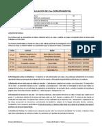 3a Evaluación Expresión Oral y Escrita I