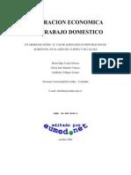 Valoracion Economica Del Trabajo Domestico