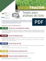 Kit de Análises de Solo Portátil. Loja tracom.com.br