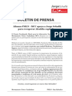 Boletin de Prensa - Mcc y Jorge Schafik - Fmln (1)