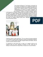 Las Fiestas Patron Ales de La Virgen Del Rosario El 7 de Octubre