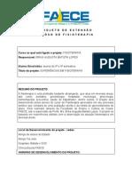 PROJETO DE EXTENSÃO - EXPERIENCIAS EM FISIOTERAPIA