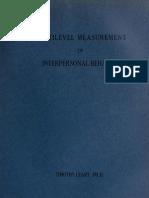 Multilevel Measurement of Interpersonal Behavior