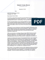 Letter to Attorney General Holder Regarding Secret Interpretations of the PATRIOT Act