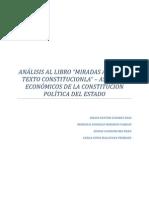 Analisis Del Libro Miradas Al Nuevo Texto Constitucional