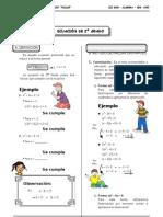 III BIM - 3er. Año - ALG - Guía 6 - Ecuación de 2do Grado