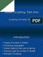 Siebel Scripting 1