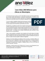 26-10-11 Anuncia Cano Vélez 290 Millones para Obras en Municipios Sonorenses