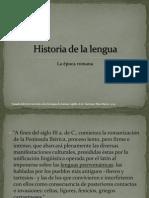 Lección de historia de la lengua