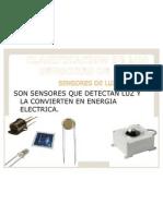 Clasificacion de Los Sensores de Luz