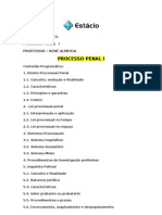 Apostila de Processo Penal i Estacio Completa Out 2011