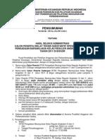 Hasil Seleksi PBJ 4&5-2011