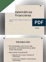 Matemáticas Financieras Parte 1 y 2