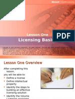 Licensing Essentials & Basics