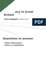 Democracy in Great Britain