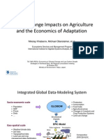 Climate Change Impacts on Agriculture and the Economics of Adaptation