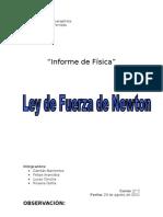 Informe Leyes de Newton