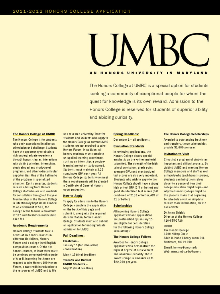 umbc honors essay