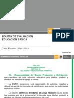 Boleta de evaluación 2011-2012