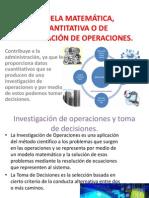 ESCUELA MATEMÁTICA, CUANTITATIVA O DE INVESTIGACIÓN DE