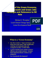 Review of the Green Economy, Green Growth and Green Jobs Paradigm and Relevance to NE Asia