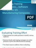 Measuring Training Effectiveness
