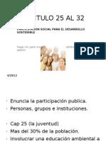 Agenda 21-cap 25 al 32