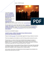 The Occupy Oakland Riot and Injuries - OTPOR Provoked