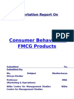 Consumer behavior in FMCG products
