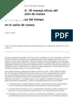 El manejo eficaz del tiempo en el salón de clases - Scott H. Knecht