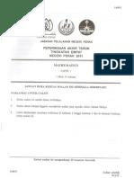 PAT FORM 4 Perak Math 2011 Paper 1