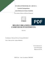 TESI Regole Organizzative e Servizi Di Investimento
