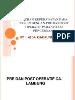 Askep Dengan Pre Dan Post Operatif