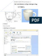 Thiet Ke-tach Khuon-gia  Ly nhựa  Voi Creo Parametric 1.0