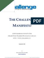 The Challenge Manifesto