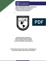 DESCRIPCIÒN DEL PROYECTO EDUCACIÓN AMBIENTAL PARA ESTUDIANTES DE 4TO. A 6TO. PRIMARIA