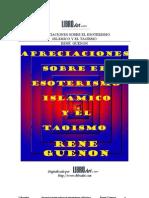 Guenon, Rene - Apreciaciones Sobre El Esoterismo Islámico y El Taoísmo