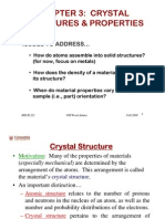 Crystal Structure and Properties