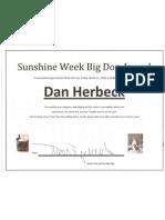 Herbeck Sunshine Week Award