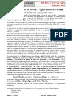 Potabilità dell'acqua a S. Palomba – aggiornamento al 26/10/2011