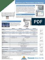 Panaboard UB Series Spec Sheet
