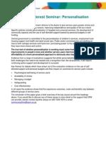 OPM Public Interest Seminar-Personalisation Briefing Paper