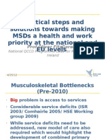 Practical steps and solutions towards making MSDs a health and work priority at the national and EU levels