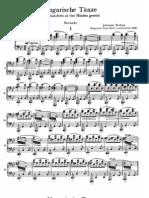 Ungarische Tanze No 1 Brahms