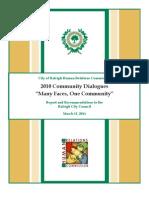 2010 Community Dialogues Report