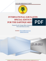 The Special Bulletin of BDP for Earthquake in Van