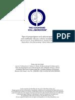 ANTICONCEPTIVOS 2011 Revision Cochrane Eficacia y Secundarios en Diferentes Compuestos