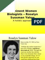 Rosalyn Sussman Yallow