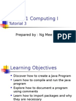 200701 Computing 1 Tutorial 3