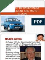 Conflict Between India Government and Maruti Suzuki